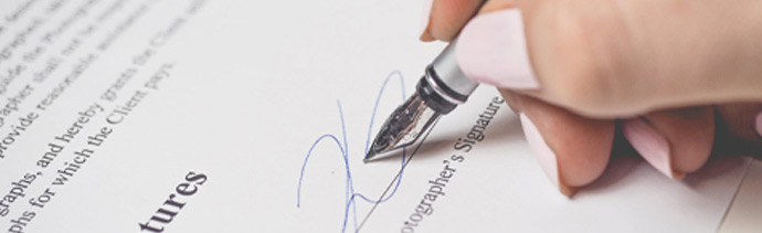pen with signature