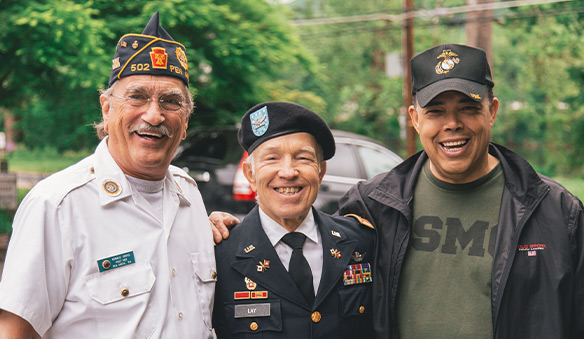 three veterans